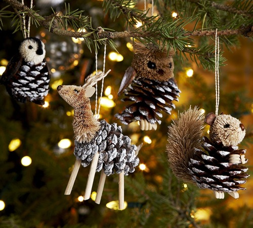 Five homemade christmas tree ornaments Homemade christmas decorations using pine cones