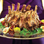 Holiday crown roast pork
