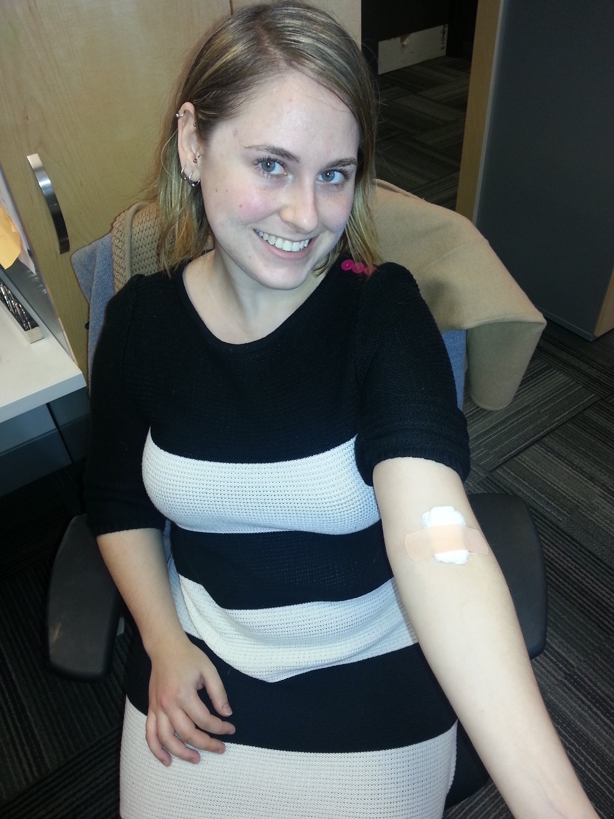 KindCycle Jacki Slovitt gave blood