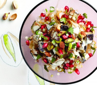 Couscous recipe: Pistachio and pomegranate