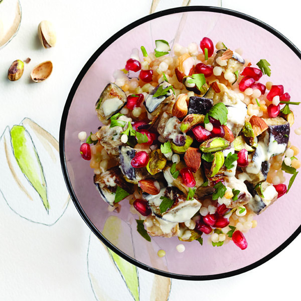 Pistachio and almond couscous