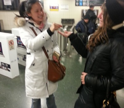 Irene Ngo giving subway token to stranger on TTC, #kindcycle, Chatelaine Assistant Food Editor