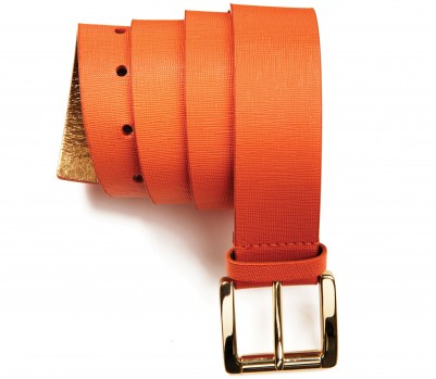 Orange Michael Kors belt, Jan 13, p34