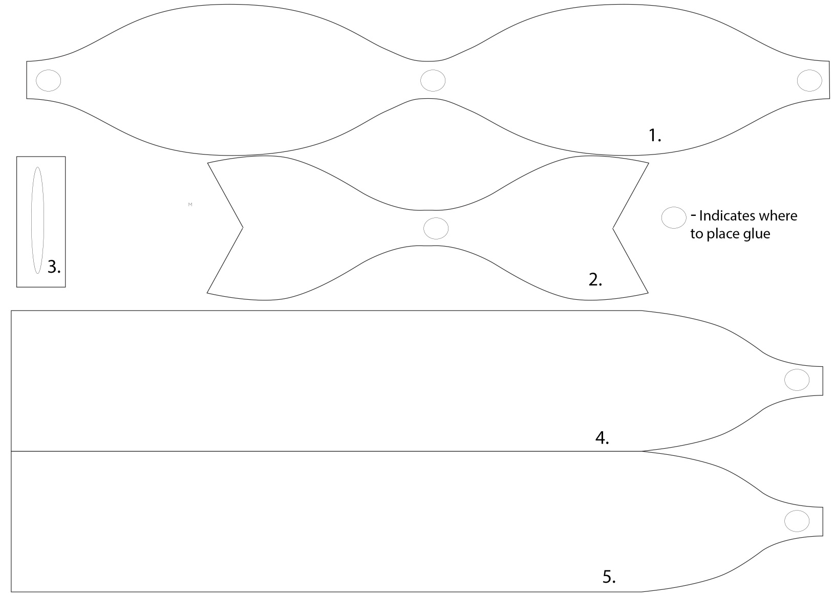 It is an image of Crush Bow Template Printable