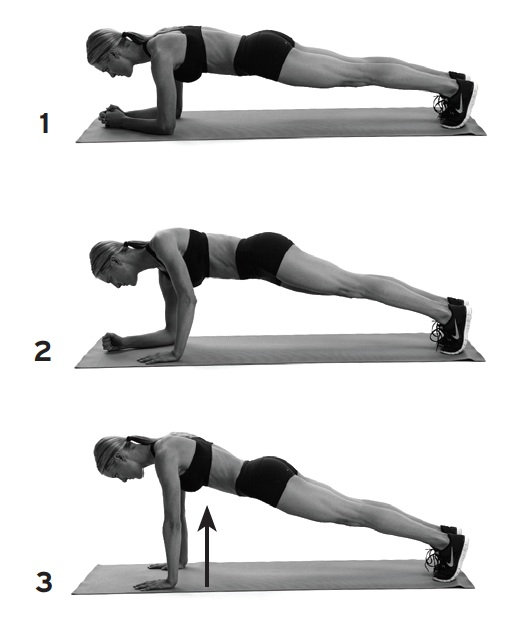 Plank to push-up, Jan 13, p102