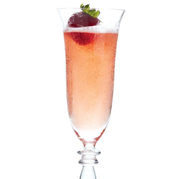 Festive fizz cocktail