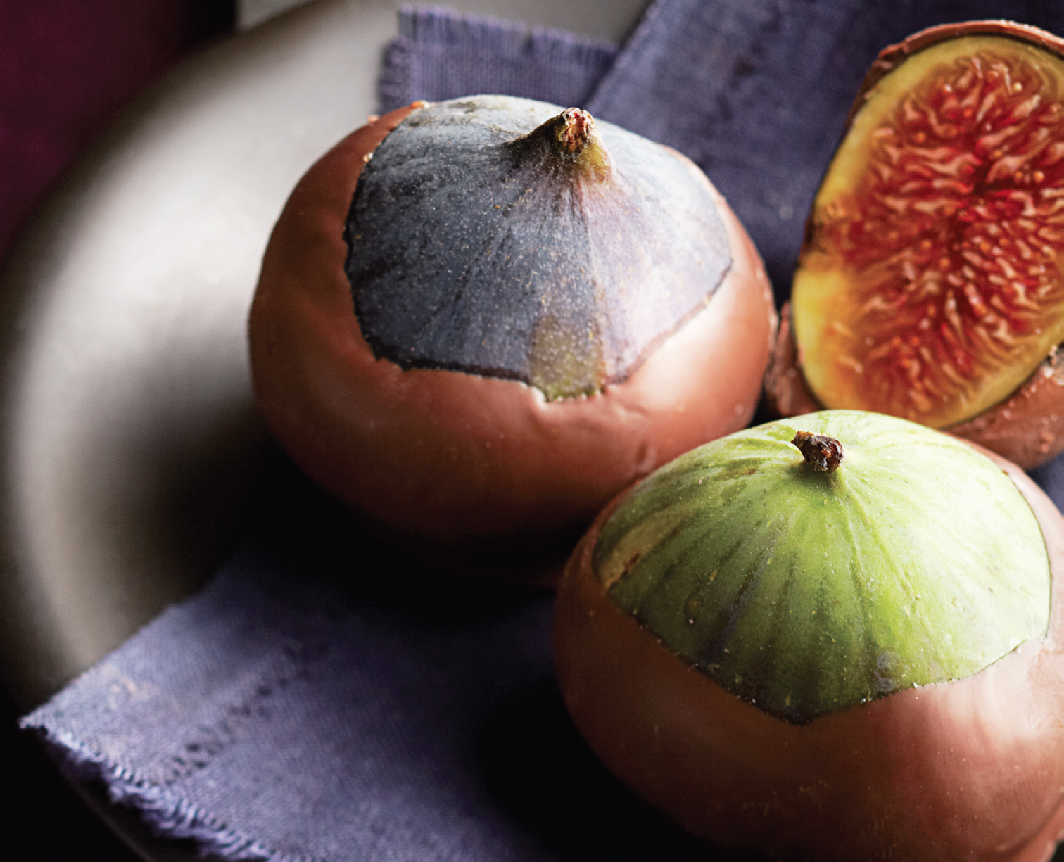 Chocolate-dipped figs, Feb 13, p78