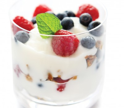 Glass of yogurt and berries, Feb 13, p92