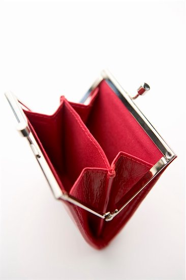 empty red wallet women
