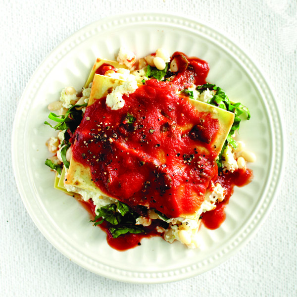 Fresh veggie lasagna recipe Photo by Roberto Caruso