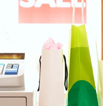 shopping bags sale cash register