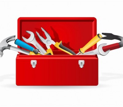 Red tool box; Masterfile