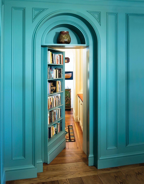 Declutter Tip Door Frame Bookshelf