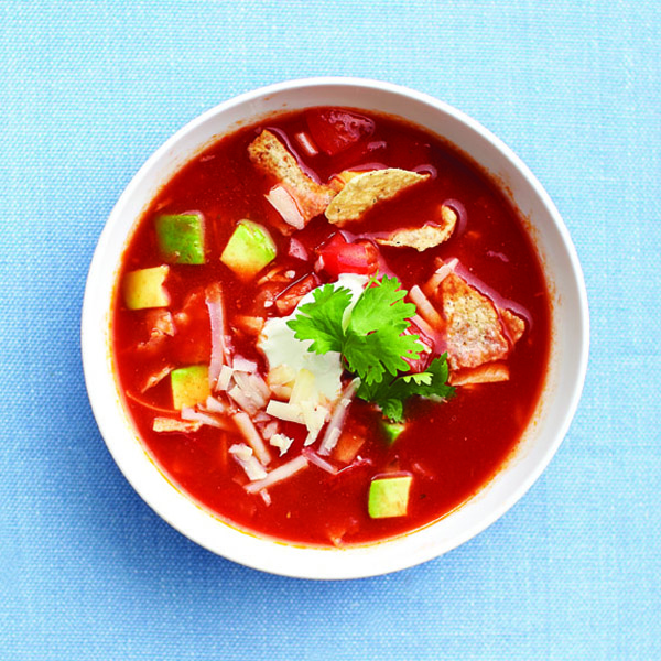 Zesty Aztec soup for Meatless Monday