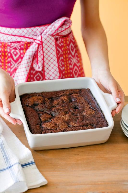 Chloe's Vegan hot fudge on the bottom cake recipe