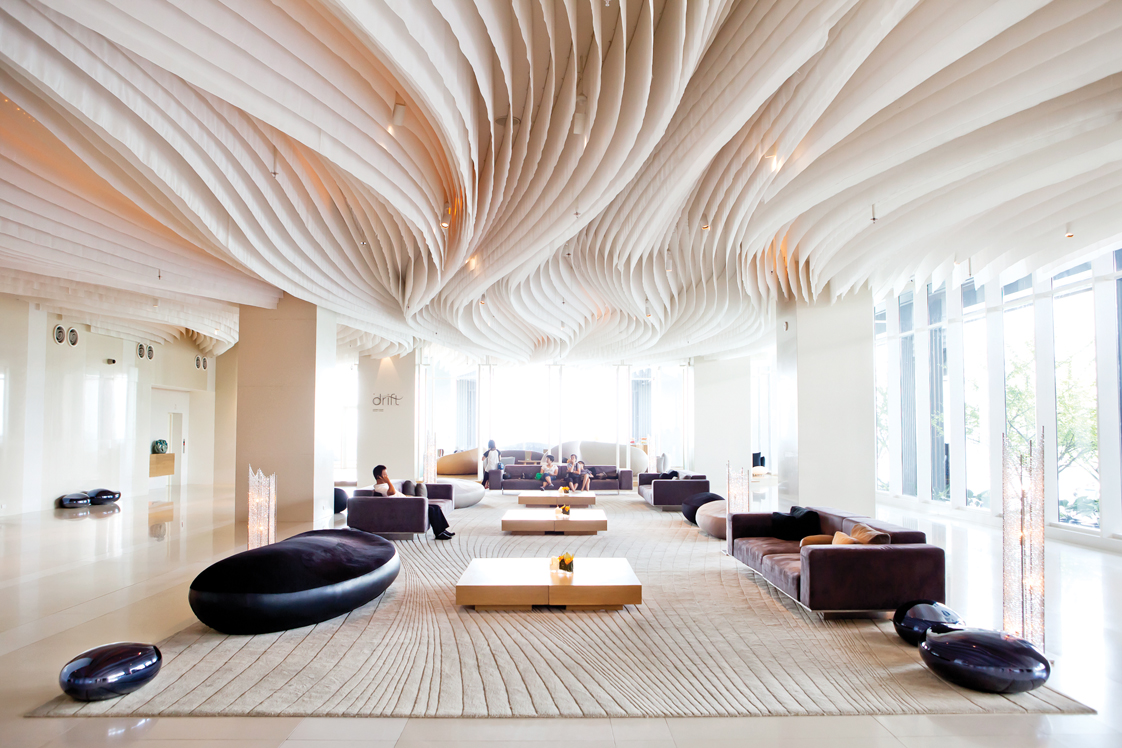 Innovative design hotel lobby bars for Hotel interior decor