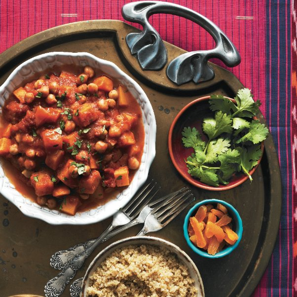 Moroccan vegetable stew in the slow-cooker