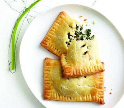 Kale and spinach hand pies