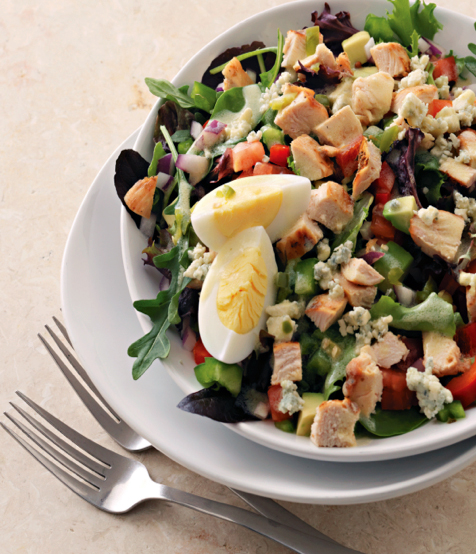 A heart healthy salad thats high in fibre and perfect for spring chicken lime cobb salad from heart of perfect health by naturopath dr brenda watson forumfinder Images