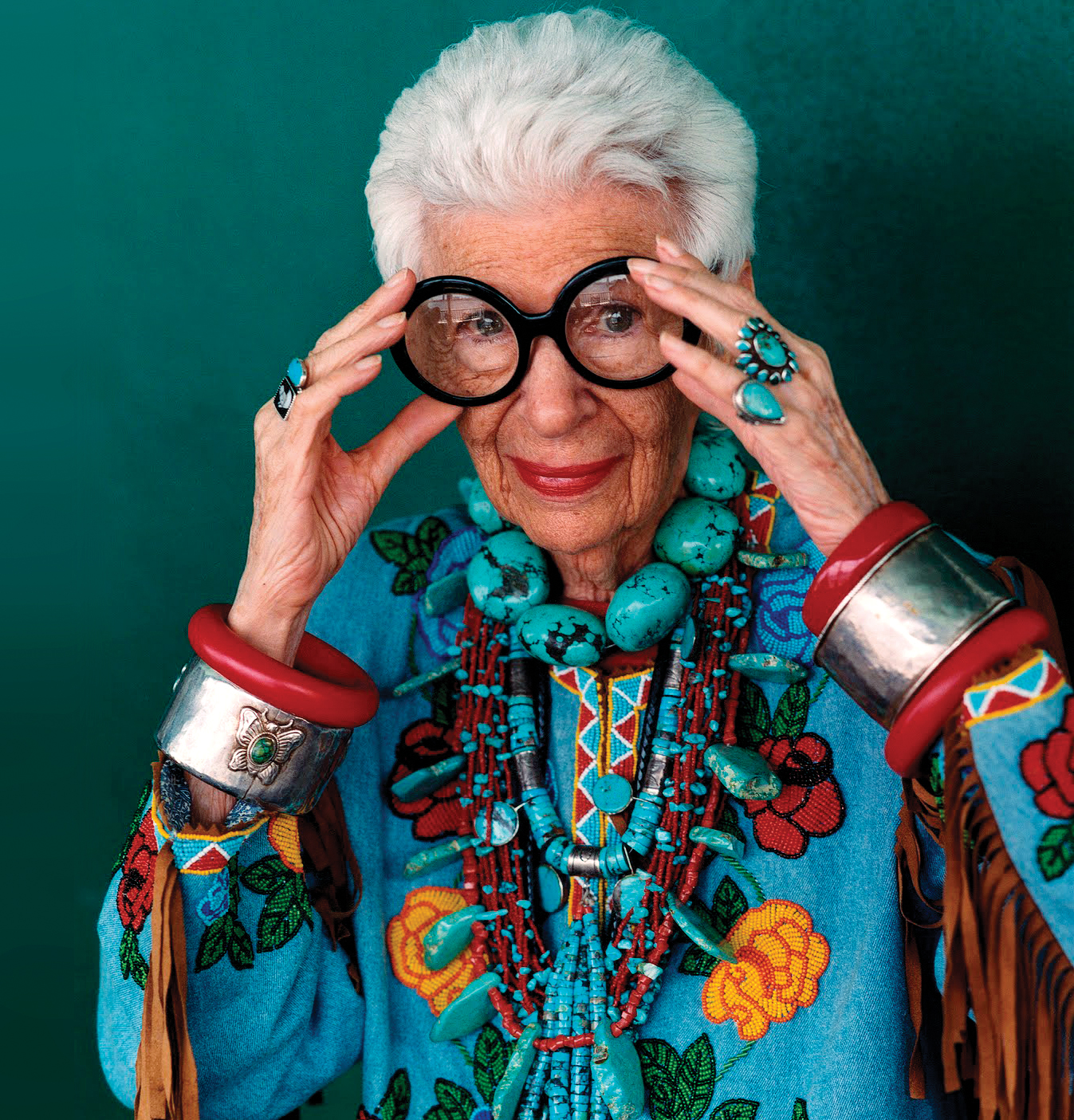 Iris Apfel, the ultimate geriatric starlet; Photo by Bruce Weber
