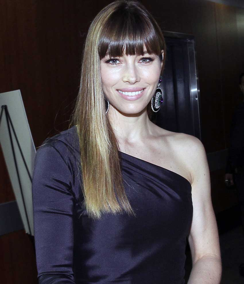 Actress Jessica Biel poses at the GRAMMY Charities Signing Booth during the 55th Annual GRAMMY Awards at STAPLES Center on February 10, 2013 in Los Angeles, California. (Photo by Maury Phillips/WireImage)