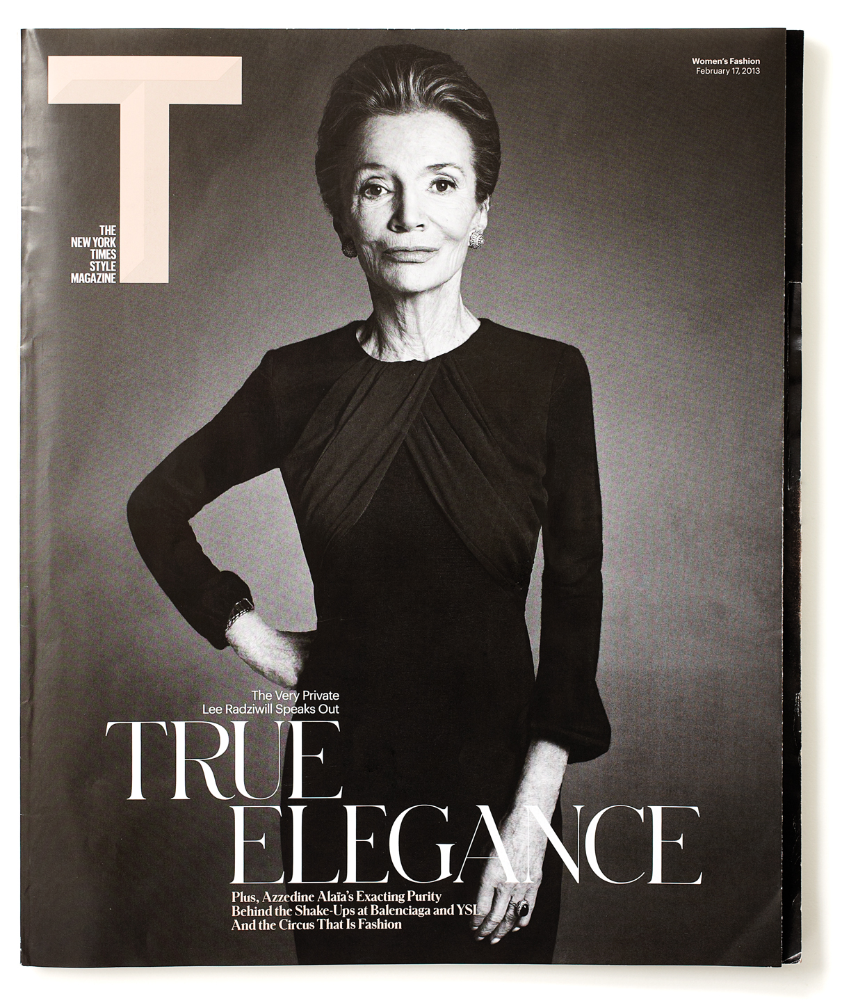 Lee Radziwell, 79, on the cover of February's New York Times T magazine