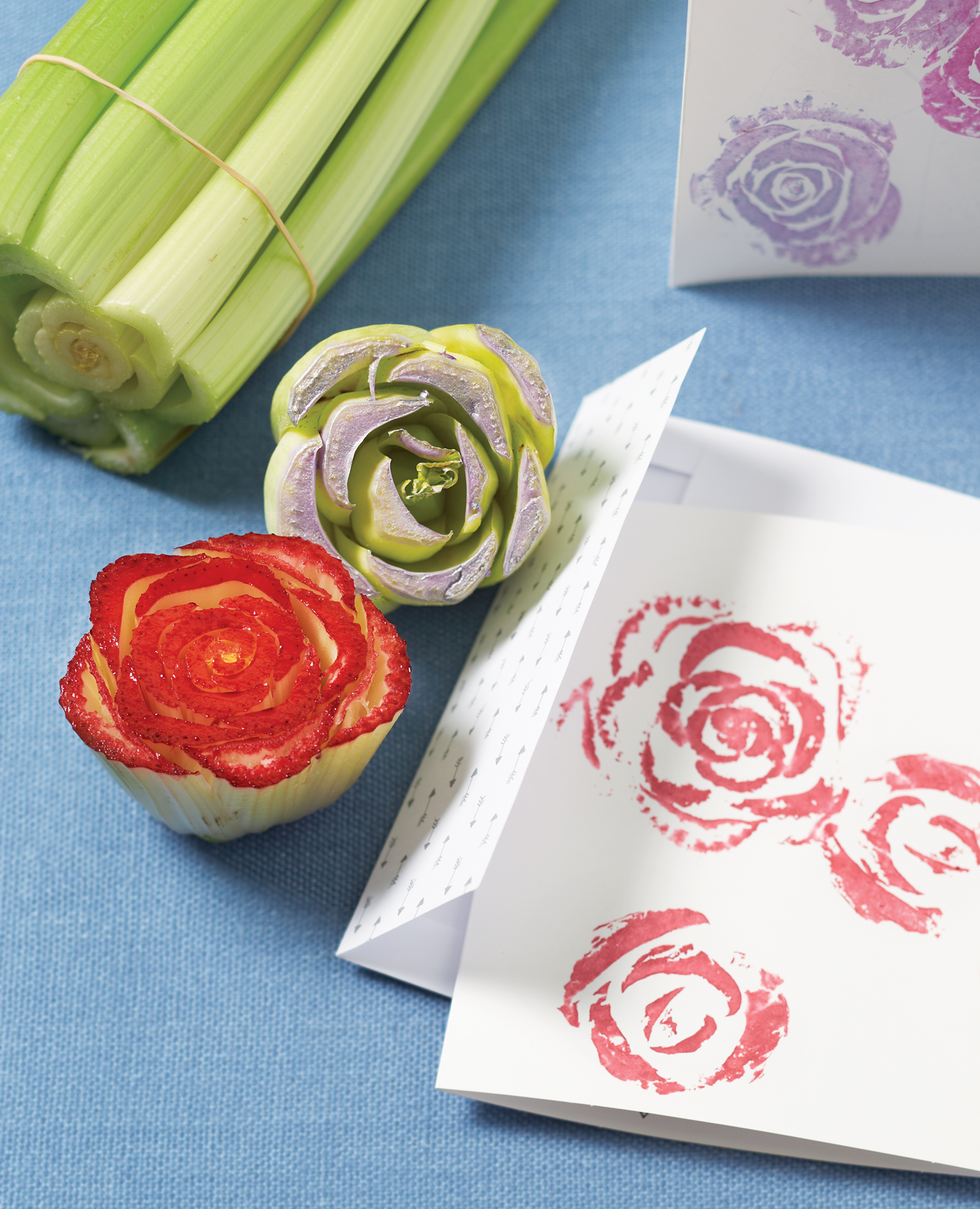 Vegetable stamps Mar 13 p186