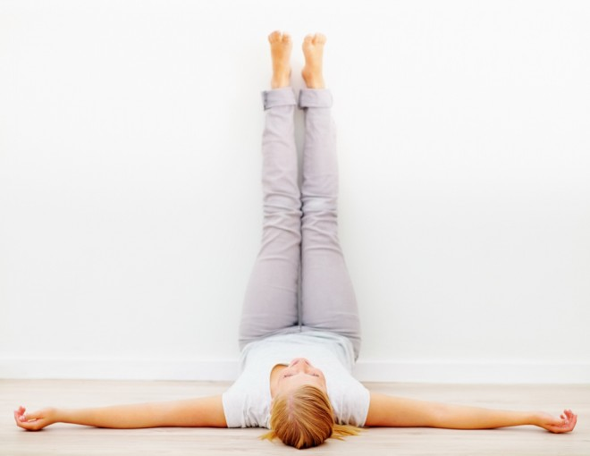 Yoga for Digestion, Legs Up the Wall