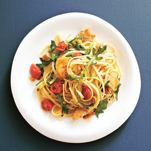 Garlicky chicken pasta
