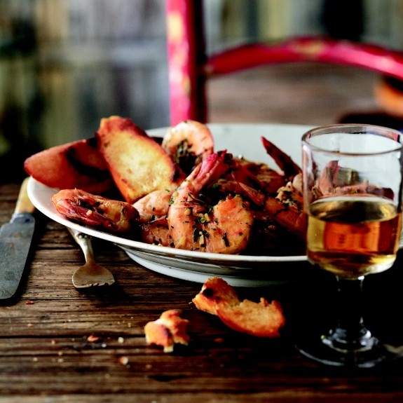 "Curtis Stone's New Orleans ""barbecued"" shrimp with amber ale recipe Photo by Quentin Bacon"