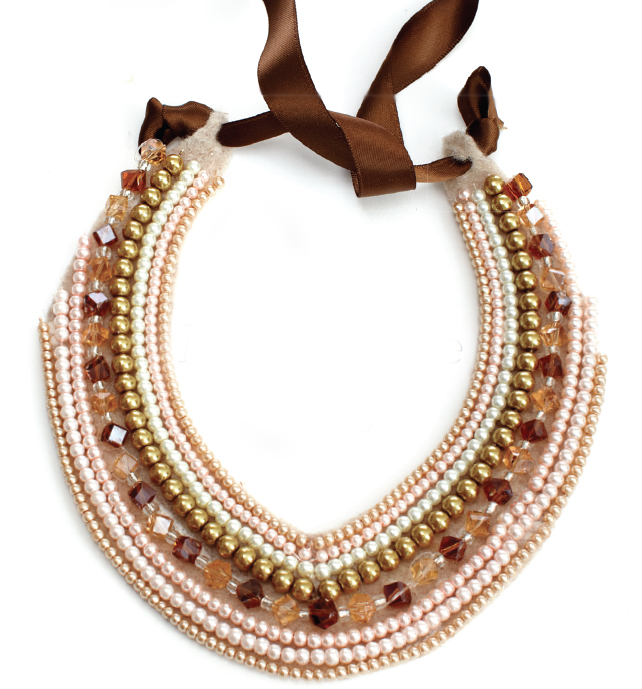 Felt beaded collar necklace bring on the bling April 13 p198