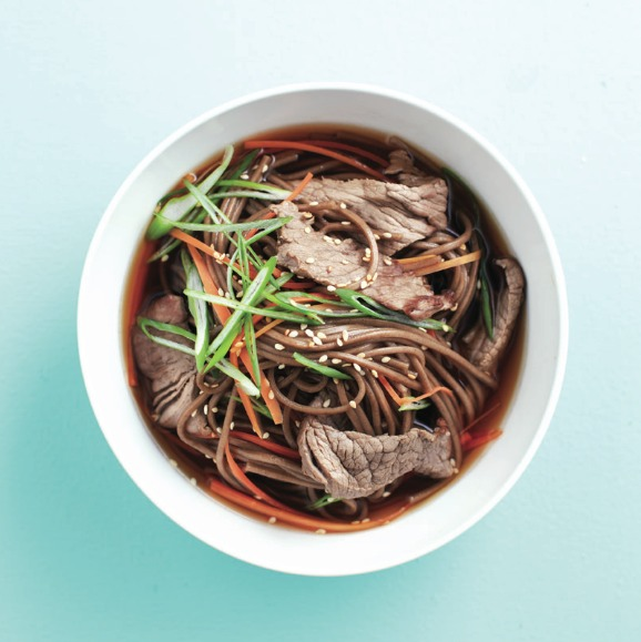 Japanese beef and soba bowl recipe Photo by Roberto Caruso