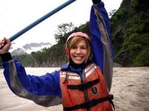 Leeza Gibbons on a recent rafting trip