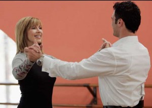 Leeza Gibbons rehearses for Dancing with the Stars which she appeared on in 2007.