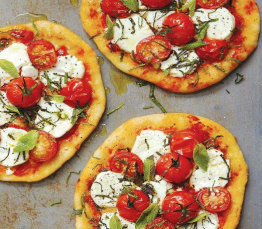Modern margherita pizza recipe