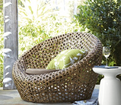 Porch design outdoor decorating montauk nest chair West Elm