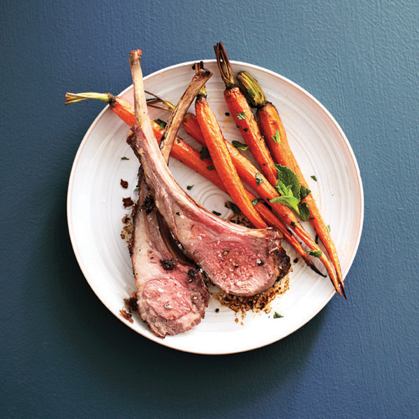 Easter menus: lamb and minted carrots