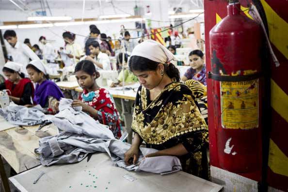 Garment factory in Bangladesh