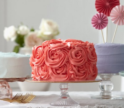 Cherry cake with marzipan roses recipe