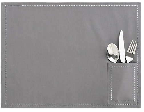 CB2 Pocket Grey Placemat