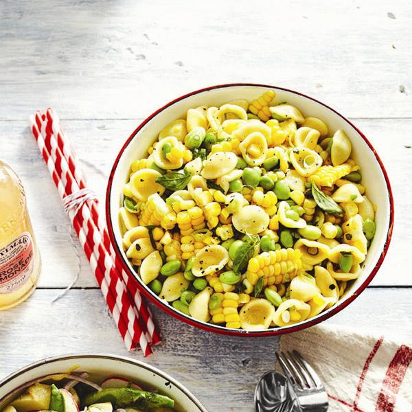 Pasta salad recipes: Summer corn pasta salad