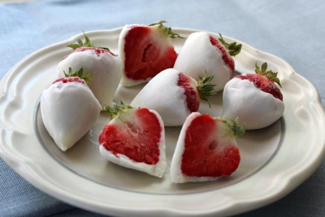 Yogurt-dipped strawberries
