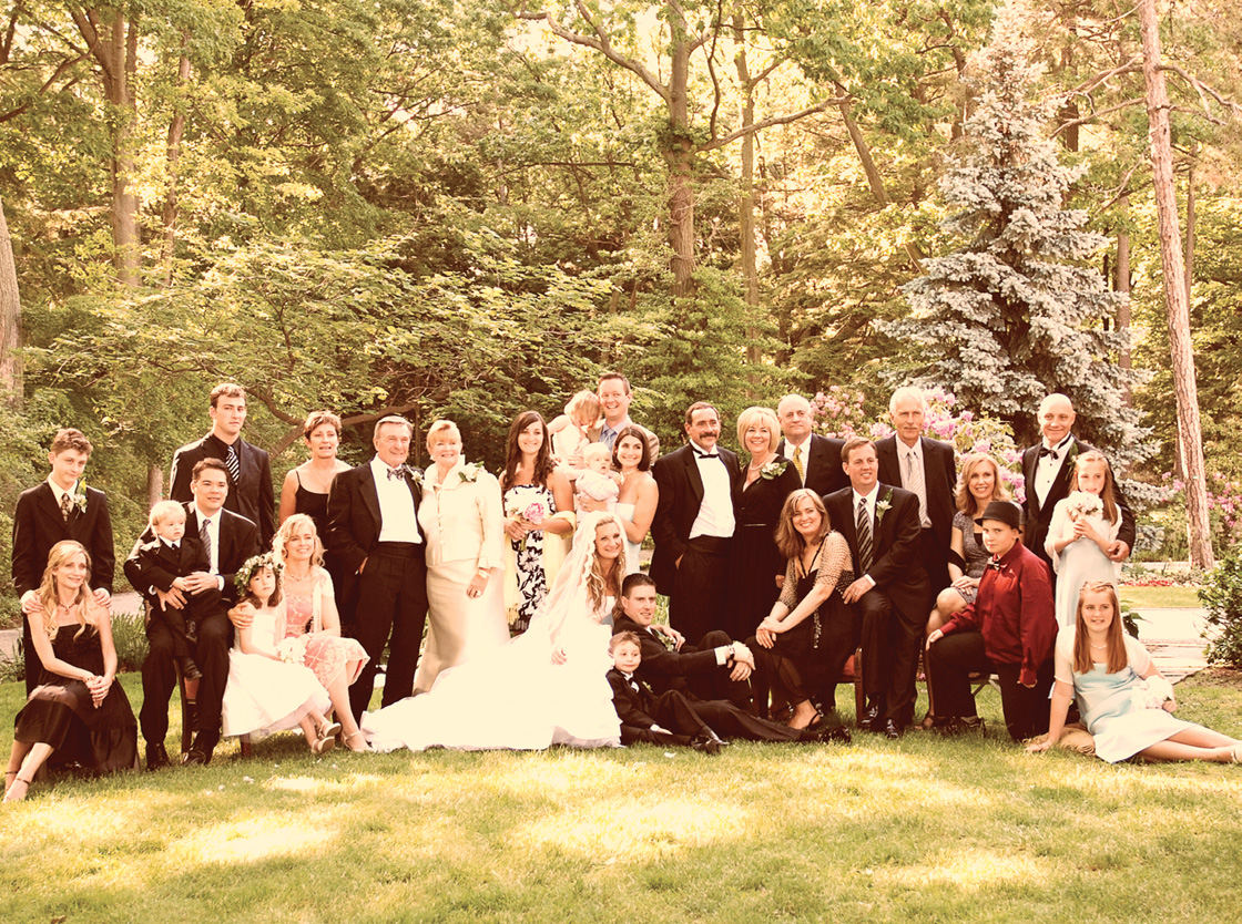 Celebrating the wedding of Taryn (the youngest) in 2008