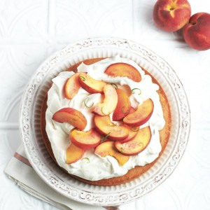 Peaches and cream cake recipe Photo by Roberto Caruso