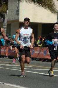 James Fell running the LA Marathon