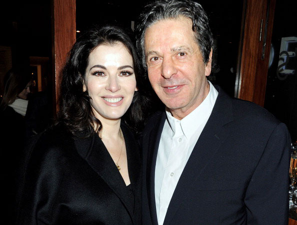 Nigella Lawson (L) and Charles Saatchi attend a dinner hosted by Joseph Group CEO Sara Ferrero and Vogue UK editor-at-large Fiona Golfar at Joe's Restaurant on January 19, 2012 in London, England. (Photo by Dave M. Benett/Getty Images)