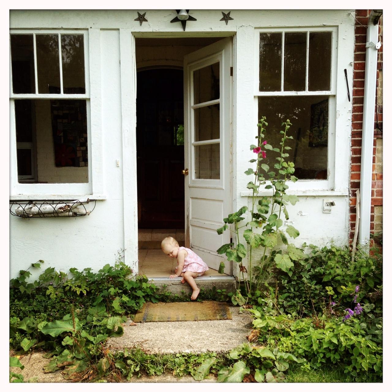 Emma Reddington cottage front door farmhouse baby girl