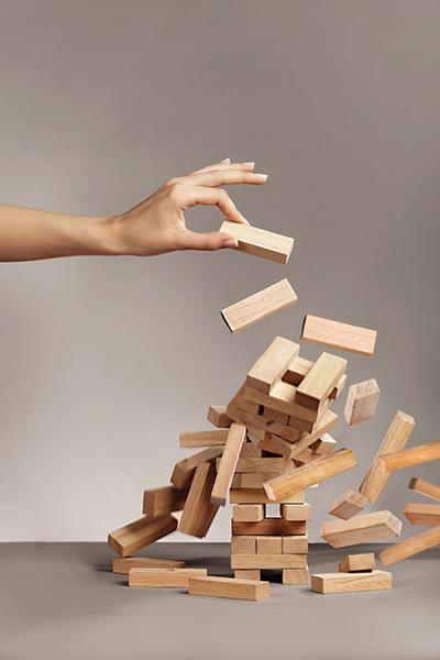 jenga blocks falling