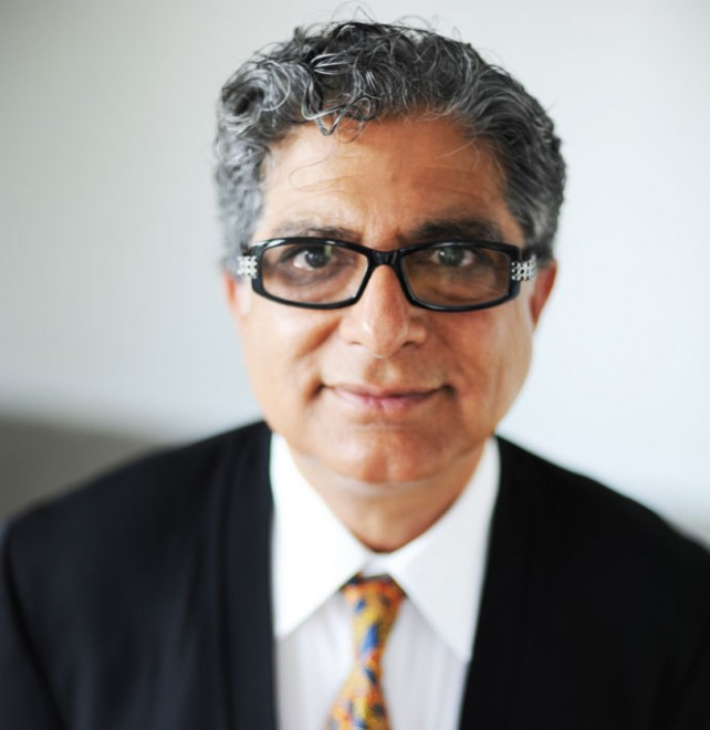 Deepak Chopra visits the Chopra Centre in Toronto, 2013.