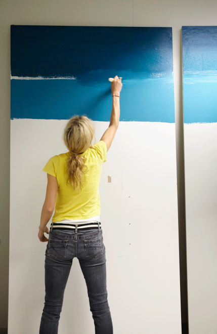 DIY-ombre-wall-project,-step-2-painting
